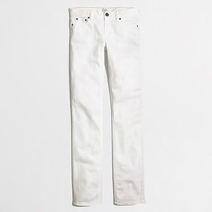 J.Crew white straight and narrow jeans